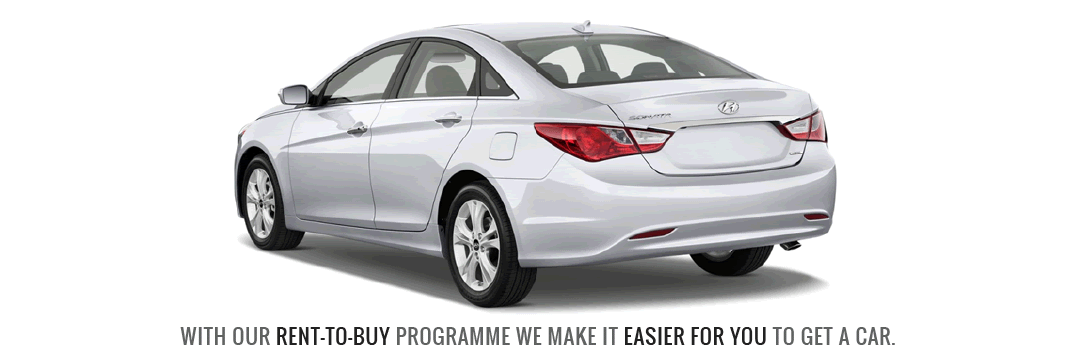 With our rent to buy programme, we make it easier for you to get a car.